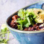 Vegan sweet potato white bean chilli