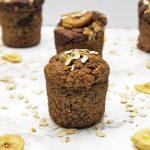 Vegan banana muffins gluten free refined sugar free