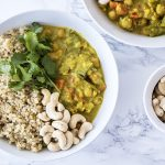 Vegan chickpea vegetable coconut curry