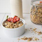 vegan gluten free almond pulp granola